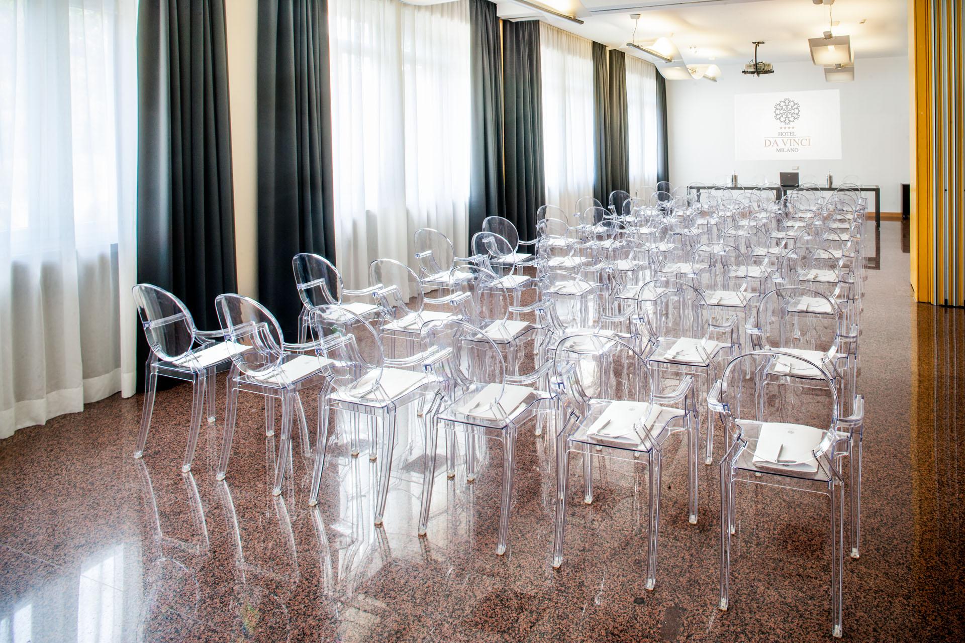 Sala Da The Milano.Hotel Da Vinci
